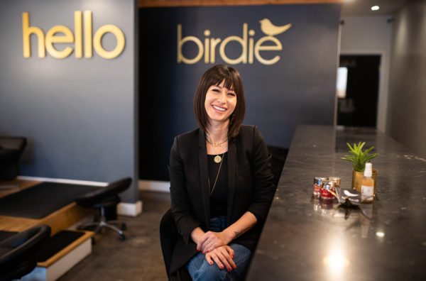 Hello Birdie owner in San Diego salon